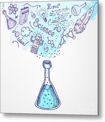 Scientific Equipment Metal Prints