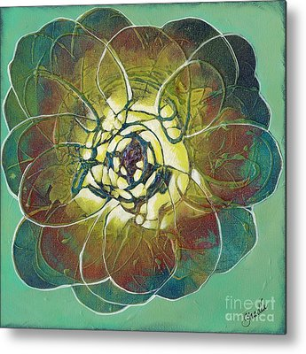 Cactus Flower Metal Prints