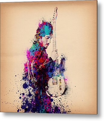 Music Rock Art The Boss Metal Prints