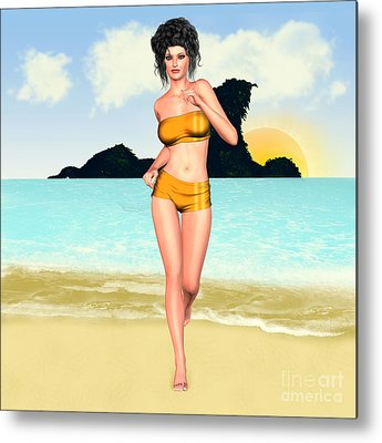 Jogging Miriam Metal Prints