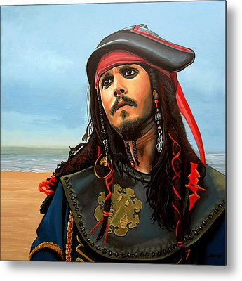 Pirates Paintings Metal Prints