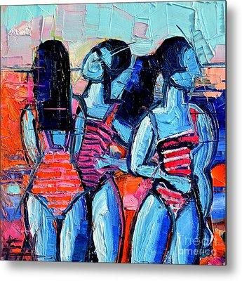 Demoiselles Paintings Metal Prints