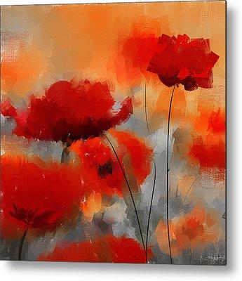 Poppies Art Gift Metal Prints