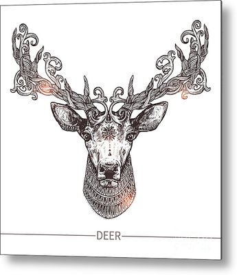 Reindeer Metal Prints