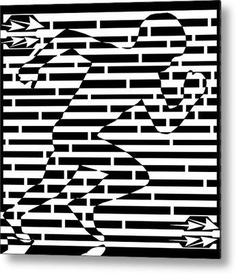 Sports Maze Metal Prints