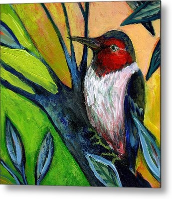 Woodpecker Metal Prints