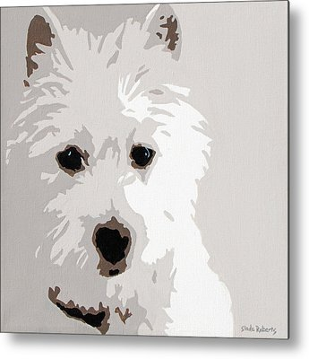Dog Paintings Metal Prints