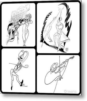Sketch Metal Prints