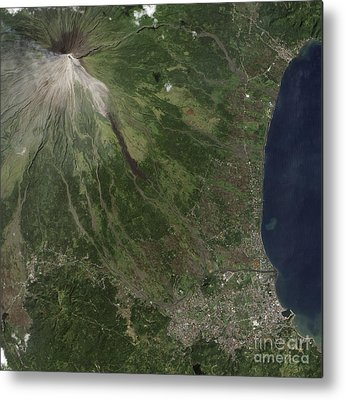 Mayon Volcano Metal Prints