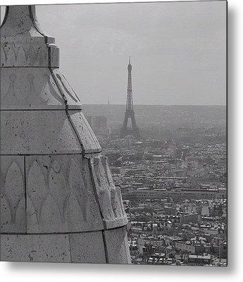 Paris Skyline Metal Prints