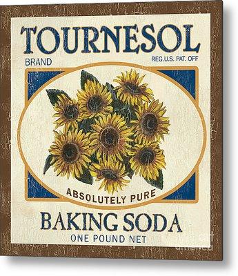 Sunflower Paintings Metal Prints