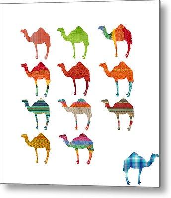 Camel Digital Art Metal Prints