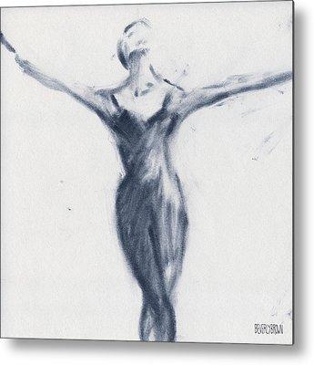 Feminine Drawings Metal Prints