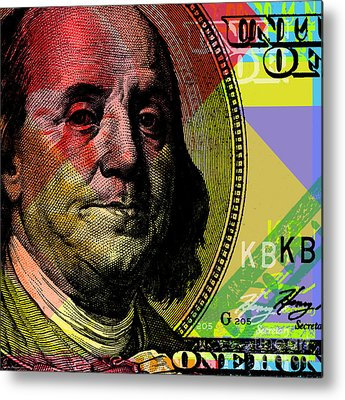 Benjamin Franklin Metal Prints
