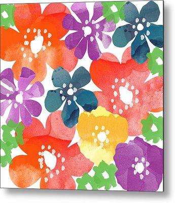 Watercolor Flowers Metal Prints