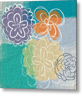 Abstract Flower Metal Prints