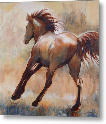 Dun Horse Metal Prints