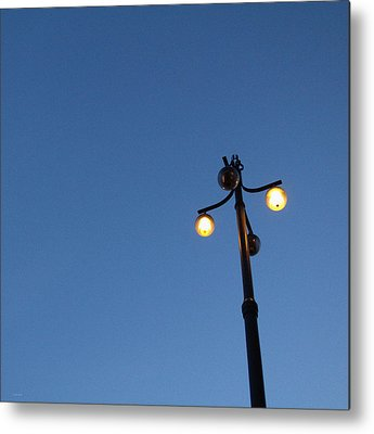 Lamp Post Mixed Media Metal Prints