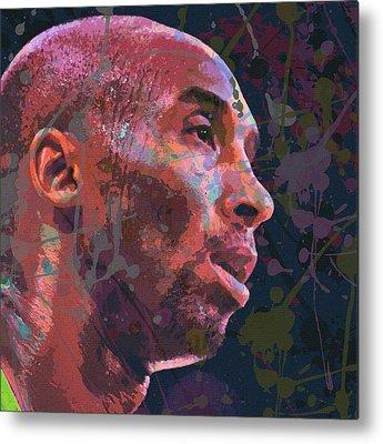 Kobe Bryant Abstract Paintings Metal Prints