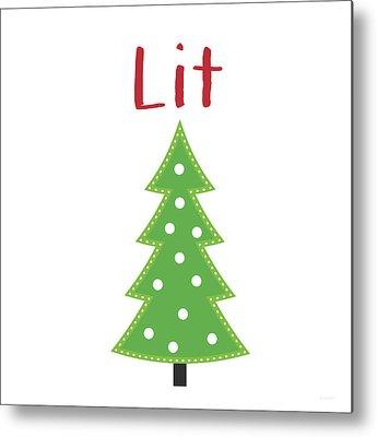 Christmas Tree Digital Art Metal Prints