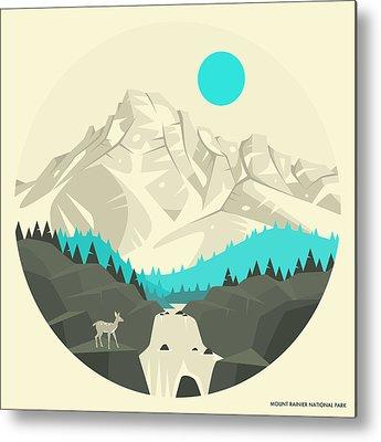 Mt Rainier Metal Prints