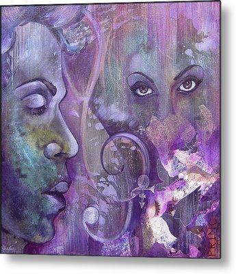 Liner Paintings Metal Prints