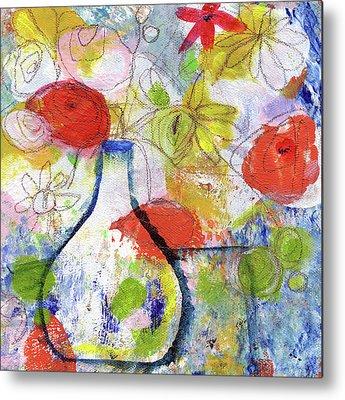 Flower Still Life Mixed Media Metal Prints