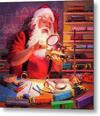 Santa Claus Metal Prints
