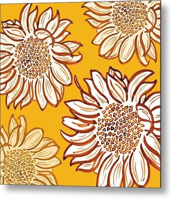 Digital Sunflower Metal Prints
