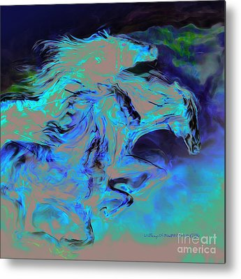 Wild Horse Mixed Media Metal Prints
