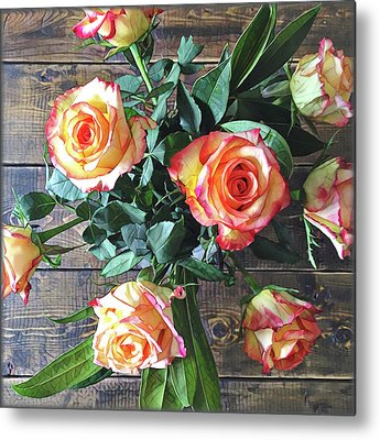 Peach Flower Metal Prints