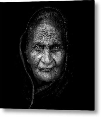Indian Woman Metal Prints