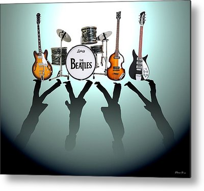 Beatles Rock Metal Prints