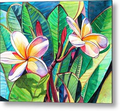 Tropical Flower Metal Prints