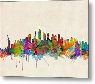 New York Skyline Metal Prints