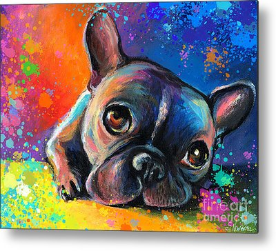 French Bulldog Metal Prints