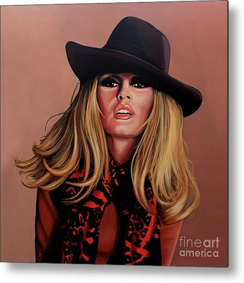 Brigitte Bardot Celebrity Metal Prints