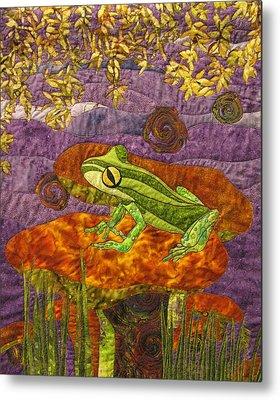 Art Quilts Tapestries - Textiles Metal Prints