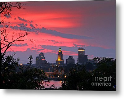 4th Of July Sunset Providence Ri Metal Print