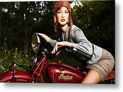 Indian Motorcycle Metal Print