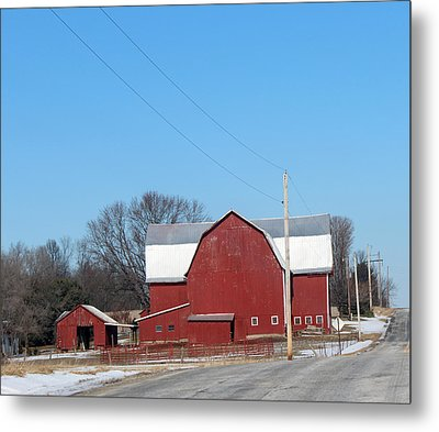 Large Red Barn Metal Print