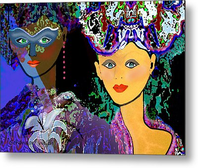 083 - The Colours Of A Summer Night    Metal Print by Irmgard Schoendorf Welch