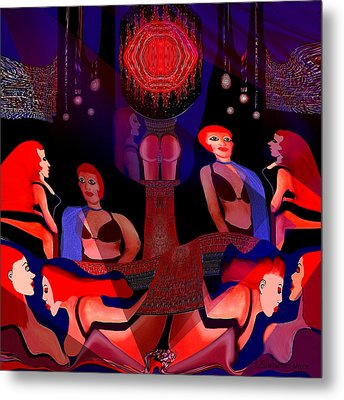 125 - Harem ... Metal Print by Irmgard Schoendorf Welch