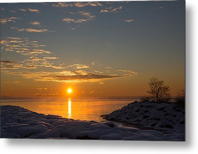 Metal Print featuring the photograph -15 Degrees Sunrise by Georgia Mizuleva