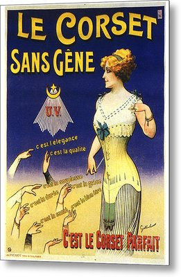 1890s France Womens Underwear Corsets Metal Print by The Advertising Archives