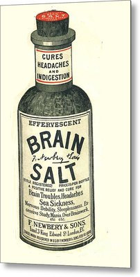1890s Uk Brain Salt Headaches Humour Metal Print by The Advertising Archives