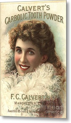 1890s Uk Calvert Toothpaste Metal Print by The Advertising Archives
