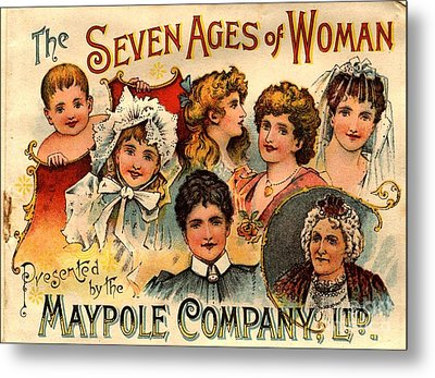 1890s Uk Maypole Ageing The Seven Ages Metal Print by The Advertising Archives