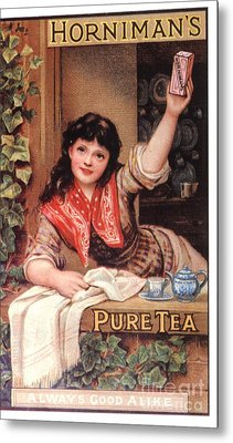 1890s Uk Tea Horniman�s Metal Print by The Advertising Archives