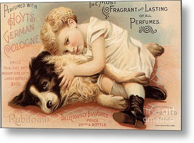 1890s Usa Babies Hoytes Cologne Dogs Metal Print by The Advertising Archives